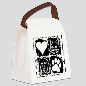 WC HUMANE SOC LOGO COLOR BLOCKS c Canvas Lunch Bag