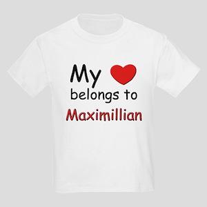 My heart belongs to maximillian Kids T-Shirt