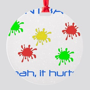 Paintball Hurts Blue Round Ornament