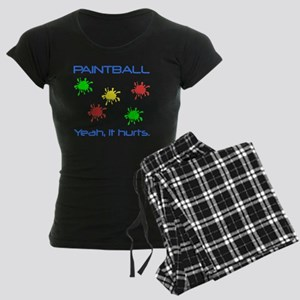 Paintball Hurts Blue Women's Dark Pajamas