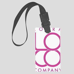LoCo Logo pink Large Luggage Tag