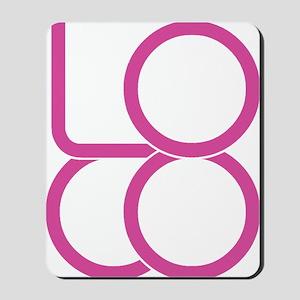 LoCo Logo pink Mousepad