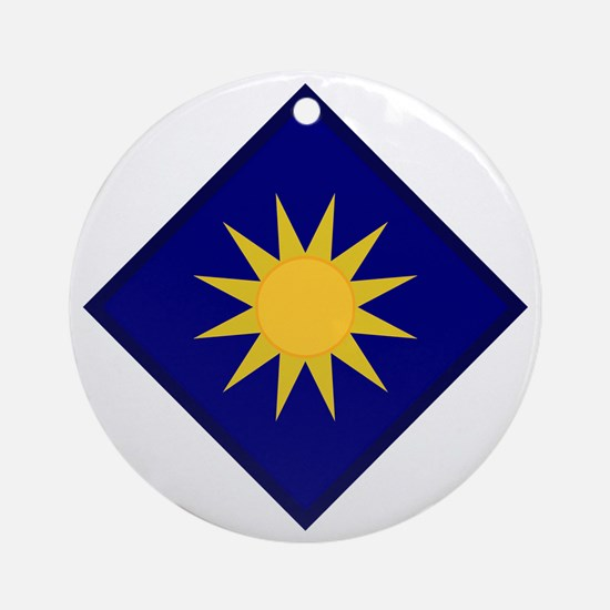 40th Infantry Division Round Ornament
