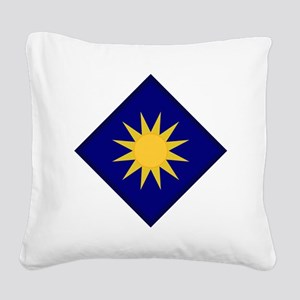 40th Infantry Division Square Canvas Pillow