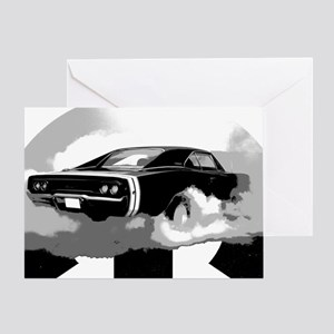 charger white shirt2 Greeting Card