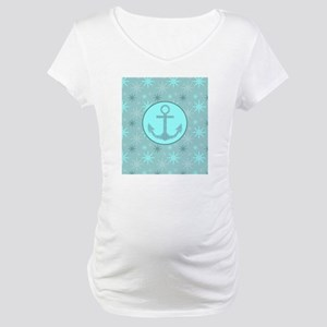 girly nautical anchor winter sno Maternity T-Shirt