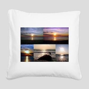 Cape Cod Glorious Sunsets Square Canvas Pillow