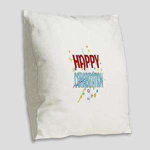 Happy Cohabitation Burlap Throw Pillow