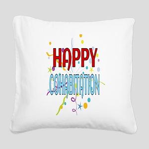 Happy Cohabitation Square Canvas Pillow