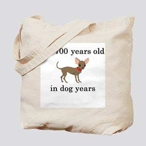 100 birthday dog years chihuahua Tote Bag