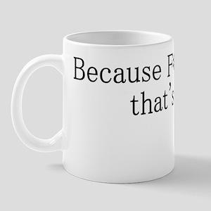fckyouteeblack Mug
