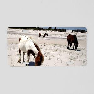 Assateague ponies Aluminum License Plate