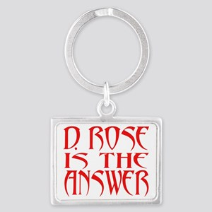 D Rose Answer Landscape Keychain