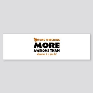 sumo wrestling is awesome designs Sticker (Bumper)
