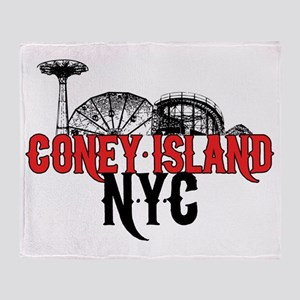 coney_island-crop Throw Blanket