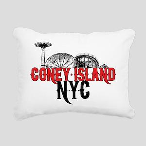 coney_island-crop Rectangular Canvas Pillow
