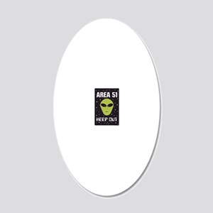 area51 20x12 Oval Wall Decal