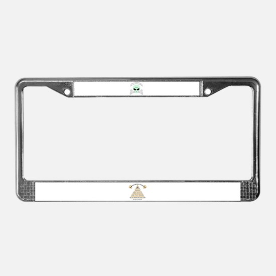NWO conspiracy License Plate Frame