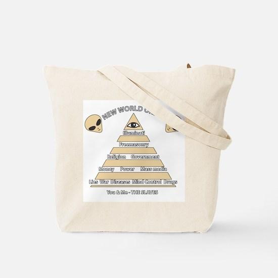 NWO conspiracy Tote Bag