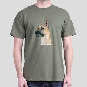Fawn Great Dane Dog Dark Colored T-Shirt