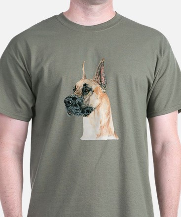 Fawn Great Dane Dog Dark Colored T-Shirt