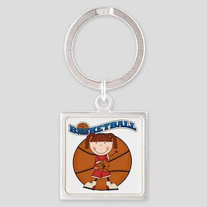 basketballkidfive Square Keychain