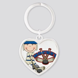 123hockeyboyone Heart Keychain