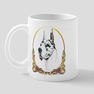 Harlequin Great Dane Xmas/Holiday Mug