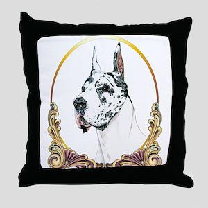 Harlequin Great Dane Xmas/Holiday Throw Pillow