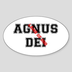 AGNUS DEI - LAMB OF GOD Sticker (Oval)