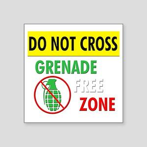 "grenadefreezone-italian Square Sticker 3"" x 3"""