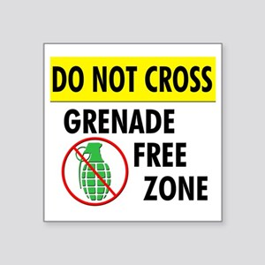 "grenadefreezone2 Square Sticker 3"" x 3"""
