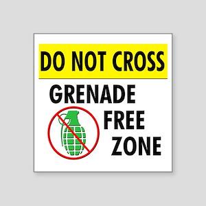 "grenadefreezone2 Square Sticker 3"" x 3"""