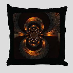 Metallic Swirl Throw Pillow