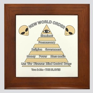 NWO conspiracy Framed Tile