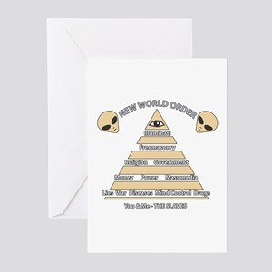 NWO Conspiracy Greeting Cards Pk Of 10