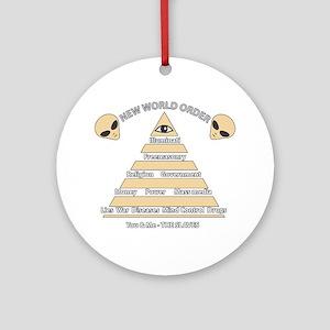 NWO conspiracy Ornament (Round)