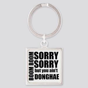 sorry sorry Square Keychain