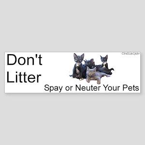 """""""Don't Litter"""" Bumper Sticker"""