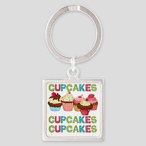 cupcakestimesthree Square Keychain