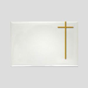 John 16-33 Yellow Cross White Let Rectangle Magnet