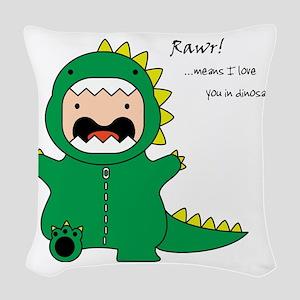 Rawr! Woven Throw Pillow