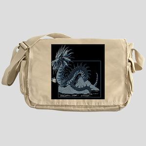dragon blue Messenger Bag