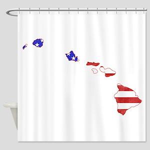 Hawaii Flag Shower Curtain