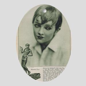 Myrna Loy 1925 Oval Ornament