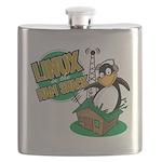 LHS Logo Metal Hip Flask