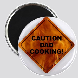CAUTION! Dad Cooking Magnet