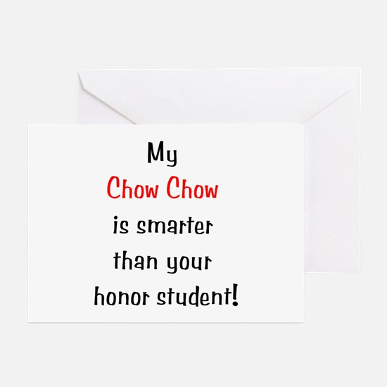My Chow Chow is smarter... Greeting Cards (Package