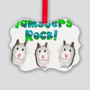 hamsters rock Picture Ornament
