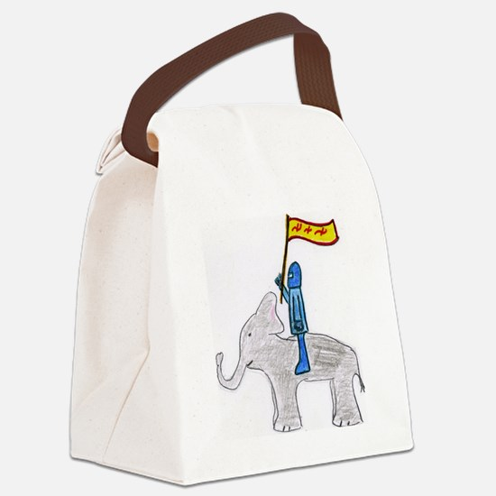 The Blue Knight Canvas Lunch Bag